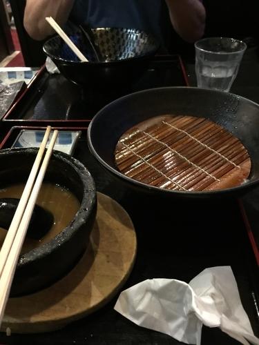 「信長つけ麺 大盛り 味玉、肉厚チャーシュー」@ラーメン信長の写真