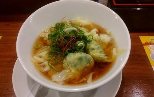 「野菜肉雲呑麺・醤油」@香港雲呑専門店 賢記の写真
