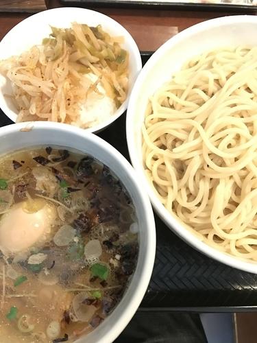 「つけ麺塩、大盛りサービス、ライスサービス」@中華麺酒家 彩華の写真