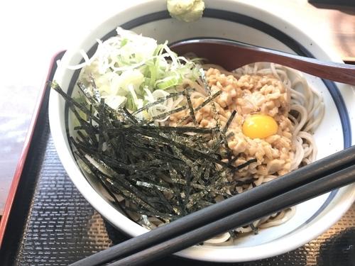 「冷し納豆そば【410円】」@蕎麦 一心たすけ 日本橋店の写真