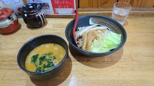 「辛みそつけ麺 850円」@巽やの写真