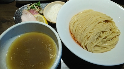 「【6月限定】海老の出汁細つけ麺(中) ¥ 900」@つけ麺 一燈の写真
