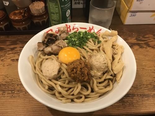 「ガッツ麺DX 大盛り300g メンマ」@日の出らーめん 名駅西口分店の写真