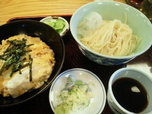 「Aランチ 他人丼ともりそば(中華麺に変更) 700円」@マルイチ 神田軒の写真