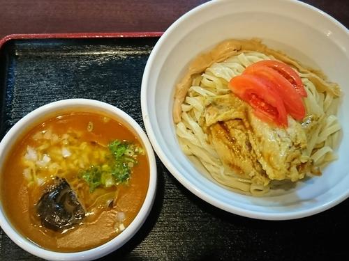 「【期間限定】夏野菜のカレーつけ麺(カレーチキンウィング付き)」@中華そば田家 ふくふくの写真