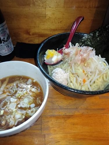 「醤油炊き しろぼしつけ麺(大盛)」@つけ麺 しろぼしの写真