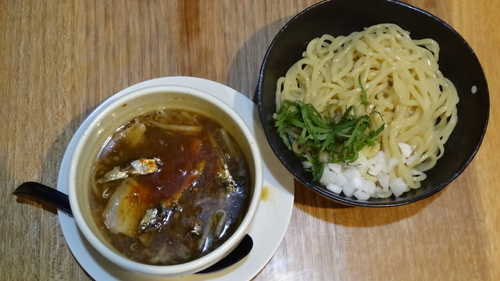 「鶏煮干しつけ麺【醤油】」@らぁ麺 つけ麺奉行 てっぺんの写真