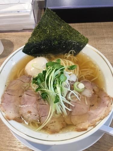 「塩中華そば&味玉」@麺や マルショウ 新大阪店の写真