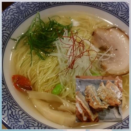 「鯛そば 750円+焼き餃子」@鯛そば そるとの写真