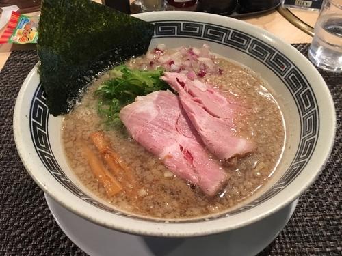 「背脂煮干しそばローストポーク丼セット1050」@らーめん セアブラノ神 壬生本店の写真