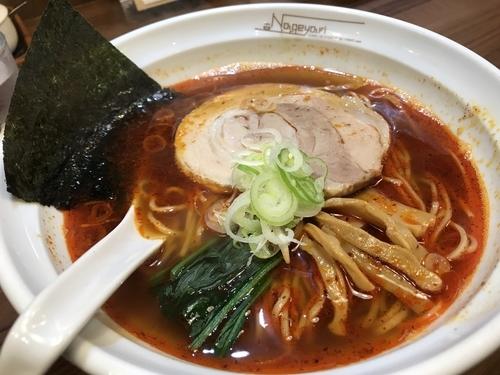 「鯖節そば 細麺 辛さ増 700円+100円」@らーめん Nageyariの写真