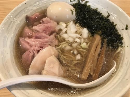 「特製煮干しらぁめん 味付き替え玉」@麺屋 さくら井の写真