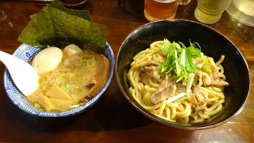 「全部入りつけ麺:並盛(1,080円)和え麺」@つけ麺 紅葉の写真