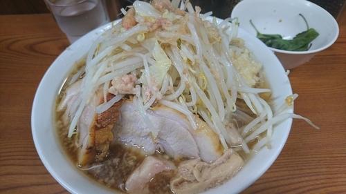 「ラーメン+大葉(ニンニク醤油漬け) ¥ 780」@ラーメン二郎 亀戸店の写真