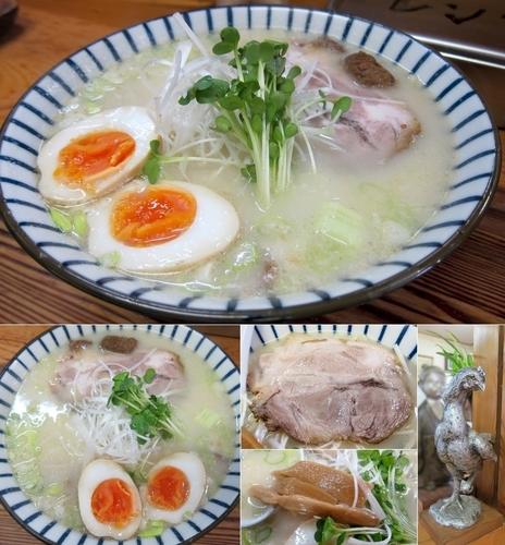 「軍鶏塩白湯ラーメン 800円(手打ち麺)」@軍鶏ラーメン美幸の写真