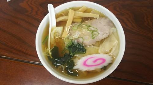 「ひもかわラーメン」@手打ちラーメン 足利麺の写真