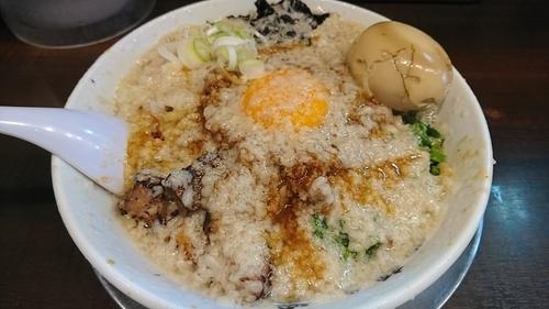 「【限定】台湾まぜそば(鬼油)+味玉(クーポン) ¥ 950」@らーめん潤 亀戸店の写真