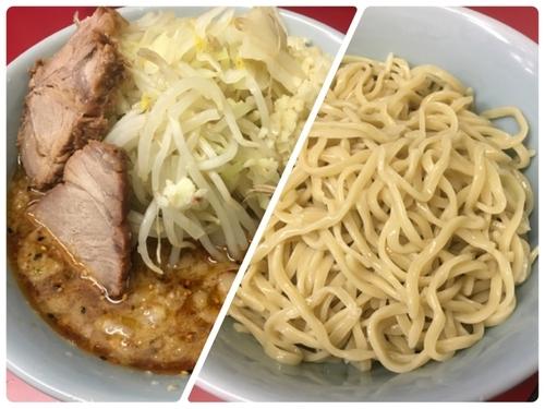 「小つけ麺(麺少なめ、ニンニク、野菜)」@ラーメン二郎 中山駅前店の写真