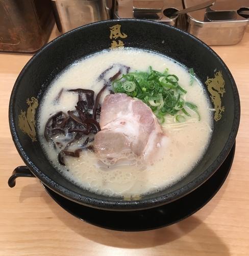 「ラーメン(バリカタ¥580)」@とんこつラーメン博多風龍 秋葉原総本店の写真