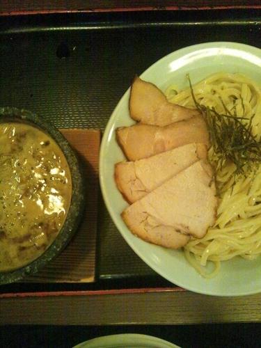 「ハーフミックスつけ麺(全部のせ)」@つけ麺 丸和 春田本店の写真