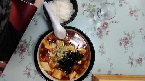 「豆腐ラーメン+ご飯」@レストラン大手門の写真