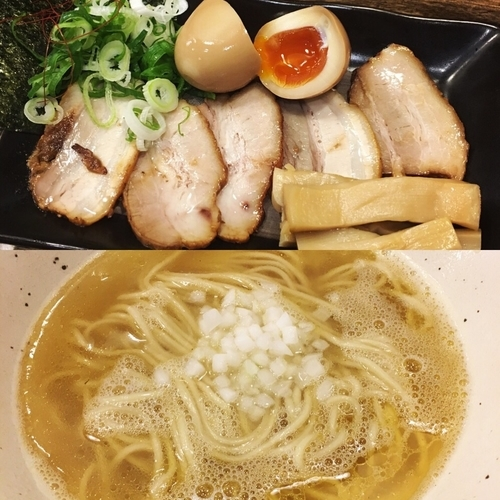 「期間限定 トビ魚煮干し特製白醤油ラーメン」@ラーメン一心 本店の写真