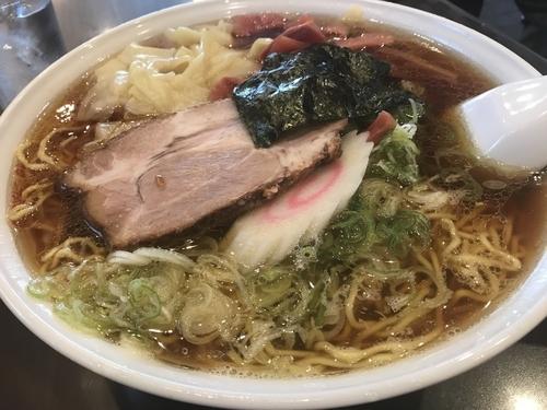 「ワンタン麺 大盛」@蓬来軒 本店の写真