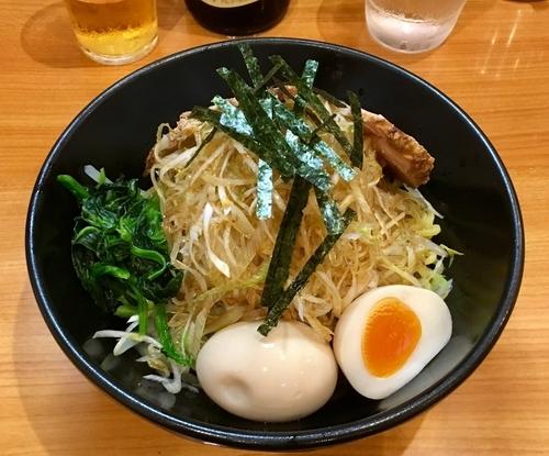 「ねぎアブラそば 780円 + 味玉」@横浜ラーメン てっぺん家 元住吉店の写真