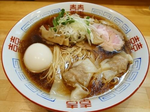 「特製中華そば細麺大盛」@中華そば シンジョーの写真