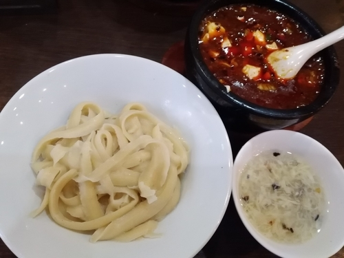 「頂天石焼麻婆刀削麺¥900」@味覚 二号店の写真