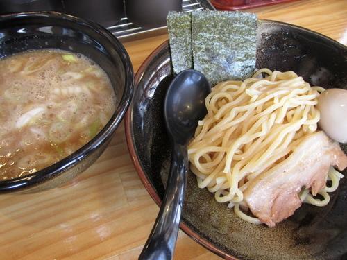 「豚骨魚介つけ麺(並)+味玉 「800円+サービス」」@麺屋 いまむら 浅草橋店の写真