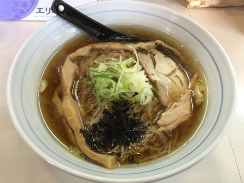 「軍鶏そば(大盛)」@とり麺や五色の写真