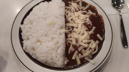 「ポークカレー(+チーズ)」@カレー専門店 クラウンエース 上野店の写真