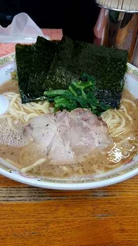 「のりラーメン(中盛)」@横浜ラーメン厨房 うえむらやの写真
