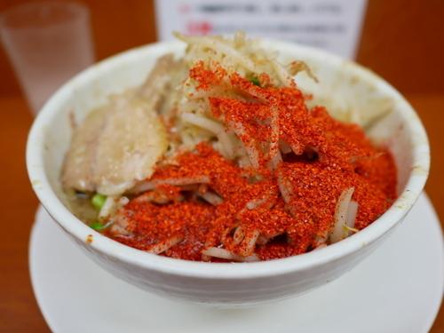 「ラーメン ヤサイまし+脂ましまし+唐辛子トリプル」@麺や 希 御徒町店の写真