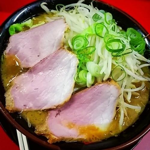 「野菜チャーシューメン3枚(中盛無料)780円」@家系ラーメン 王道家の写真