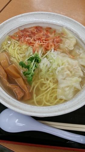 「海老しおワンタン麺」@上河内SA(上り)スナックコーナーの写真