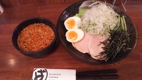 「広島つけ麺(2辛)」@ばくだん屋 渋谷店の写真
