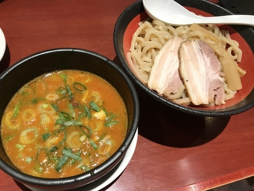「辛濃厚魚介つけ麺」@ばりかた屋 与野店の写真