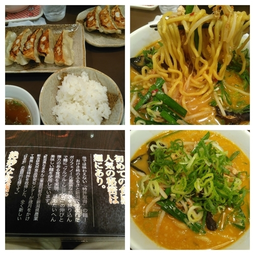 「台湾風辣麺+大盛り+餃子ご飯セット」@越後秘蔵麺 無尽蔵 はにゅう家の写真