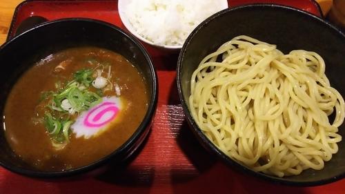 「カレーつけ麺+ライス」@中華そばつけ麺 魚介の達人 久兵衛 取手店の写真