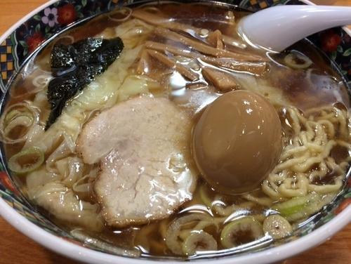 「ワンタン麺(大盛・味玉)」@春木屋 荻窪本店の写真