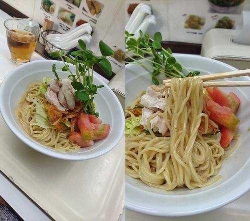 「限定『香り醤油のサラダ麺(¥800)』」@塩ラーメン・つけめんのお店 はないちの写真