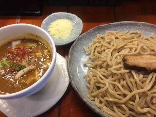 「匠の咖喱つけ麺・大(880円)」@つけ麺 紫匠乃 門前仲町店の写真