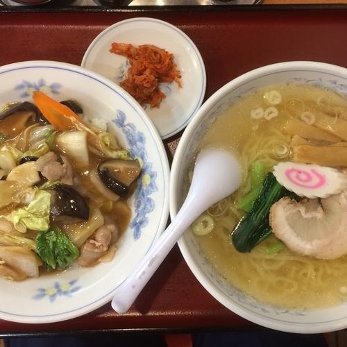 「しおラーメン・中華丼セット¥770円」@ことぶきの写真