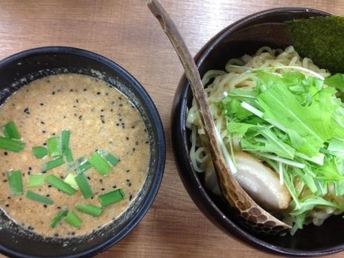 「冷やし豆乳味噌つけ麺」@げんまん 鶴見西口店の写真