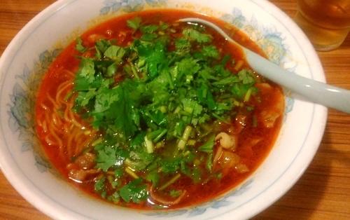 「パクチーのせラムしゃぶ麻辣麺」@和香佐の写真