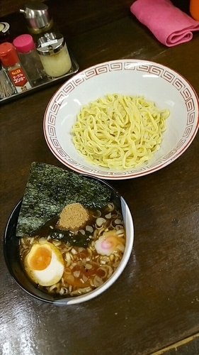 「つけ麺750円(ランチサービス半熟玉子)」@向嶋 だるまの写真