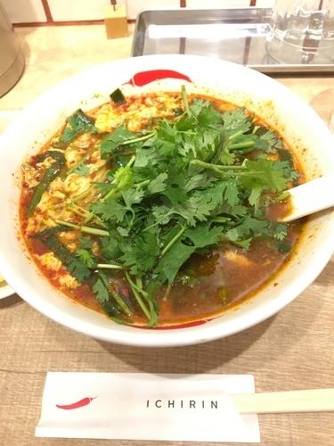 「パクチー辛麺」@辛麺屋 一輪の写真