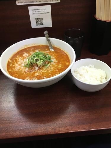 「担々麺 ライス付き850円」@麺屋 民のかまどの写真